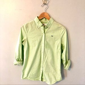 Vineyard Vines Lime Gingham Button Down